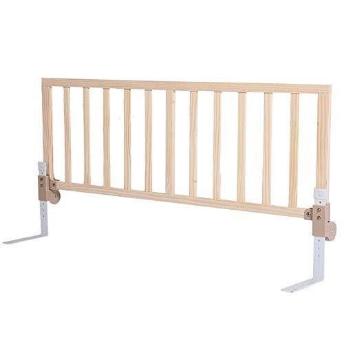 DNSJB Holzschutz Baby Bettgitter Faltbare Babysicherheits Hochbett Schutzgitter, Höhenverstellbar (48-65,6 cm) -