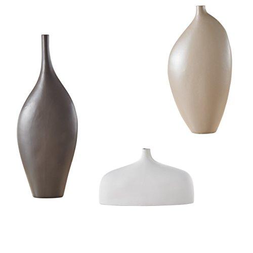 Große Blumenvase, 3-teilig Set Vasen aus Porzellan, Purelifestyle, Kreativ Vase, Deko, Höhe 40,5 / 18 / 52 cm in 3 Farben