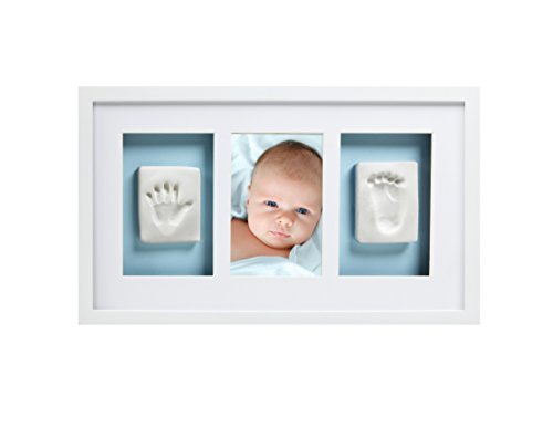 Pearhead Babyprints Newborn Baby Handprint and Footprint Deluxe Wall Keepsake Frame