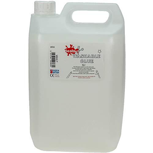 Scola 5ltr washable pva glue - eco - 5 litre craft glue school glue