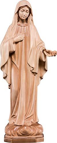 Ferrari & Arrighetti Imagen Virgen de la Paz en Talla de Madera Encerada - Mide 12 cm - Demetz Deur
