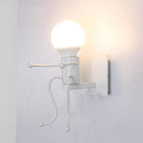 Vintage Lámpara de Pared Pequeño hombre de hierro, pequeñas luces de pared para el hogar, lindos...