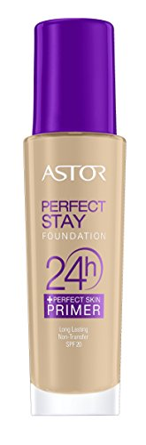 ASTOR Perfect Stay 24h Make Up plus Perfect Skin Primer, Farbe 200, 1er Pack (1 x 30 ml)