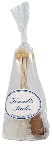 Blume - Kandisstick weiß/braun 6er - 1St