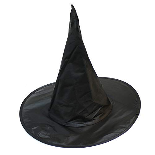 By robelli adulto collapsable/piegabile nero strega di halloween / mago cappello