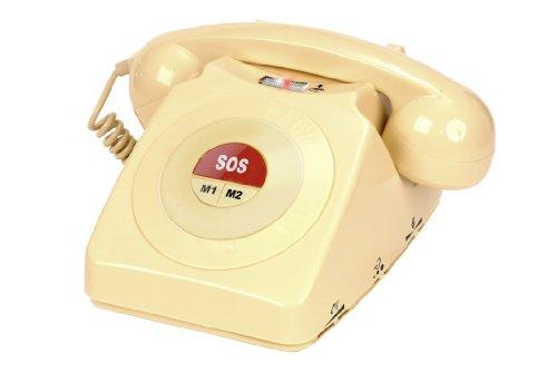 Geemarc CL64 Notruftelefon mit nur 3 Kurzwahltasten, ideal für Demenz und Alzheimer einfache Installation - Deutsche Version