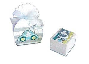Disok- Set 33 cajitas y bolsitas baby azul, Multicolor (3017)