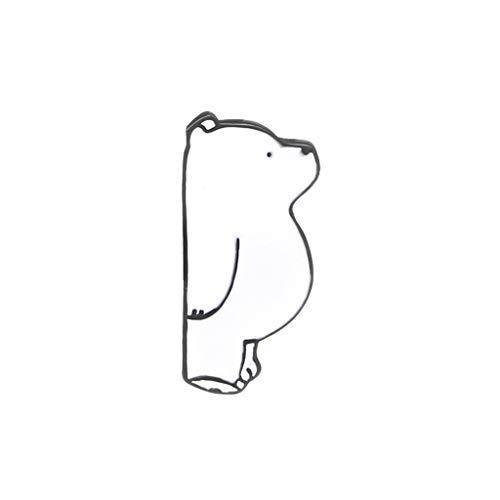 ZOUCY Tier Brosche Eisbär Niedlich Mode Dekoration Emaille Lustige Geschenke Mädchen Kleidung Pins Schmuck Panda Abzeichen Tasche Jacke Jeans Corsage Pin