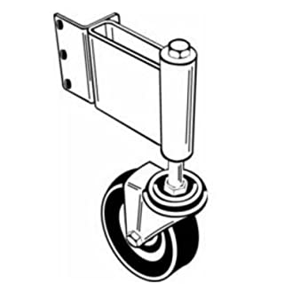 Adjust-A-Gate AG 22001L Swivel Ground Wheel with Spring LH by Adjust-A-Gate