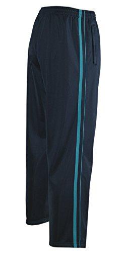 T-MODE Jogginghose, Sport- Freizeithose offener Saum K-Größen-Navy-Tuerkis-L