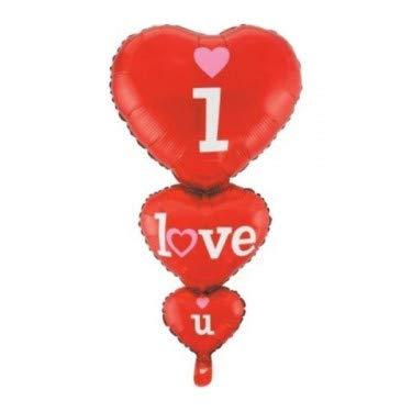 Party store web by casa dolce casa san valentino pallone foil cuore supershape forma cuore kit bouquet centrotavola festa amore innamorati - cdc - (1 triplo cuore i love you)