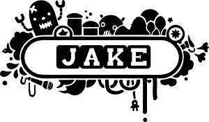 Online Design Personalisiert Name Platte Kinder Wandsticker Vinyl - Blau