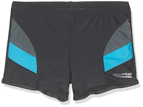 Aqua-Speed Kinder Andy Boys Aquashorts Badeshorts, grau/blau, Size 134