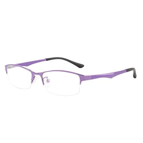 Xinvision Damen Herren Kurzsichtig Gläser,Metall Hälfte Rahmen TR90 Geschäft Kurzsicht Entfernung Brille Kurzsichtigkeit Myopia Brillen -1.00~-6.00 mit Brille Box (Diese sind nicht Lesen Brille)