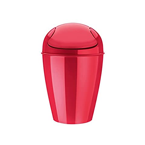 koziol Del S 5L Round Red trash can - trash cans (5 L, Round, Red, Manual, 216 mm, 216 mm)