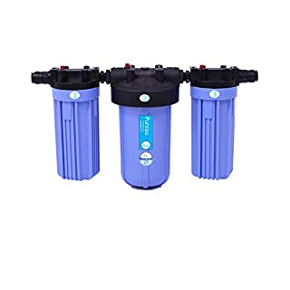 Pureau 2H+ Combined Water Softener and Whole House Water Filter, 2 Bathroom Homes, no Salt Requirement, Great Filtered Water, Easy Change cartridges, Produces Molecular Hydrogen for Health
