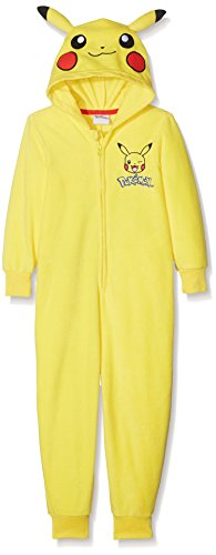 Pokemon Jungen Pikachu Dress Up Einteiliger Schlafanzug, Gelb (Yellow 019), 5-6 Jahre (Dress Für Up Jungen)