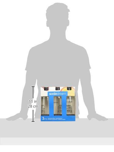 SodaStream 3 x 1L PET-Flasche, farblich sortiert (Farbe nicht frei wählbar) - 3