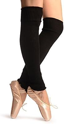 Black Plain Dance/Ballet Leg Warmers - Leg Warmers - Negro Calentadores moda Talla unica (60 cm)