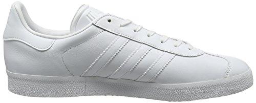 adidas Gazelle, Scarpe da Ginnastica Basse Uomo Bianco (Footwear White/footwear White/gold Metallic)