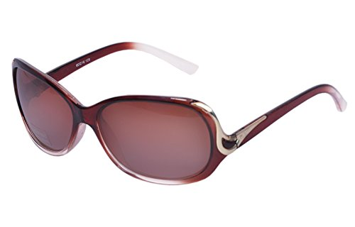 Polite Polarized Butterfly Sunglasses (Brown)- (PP0018)