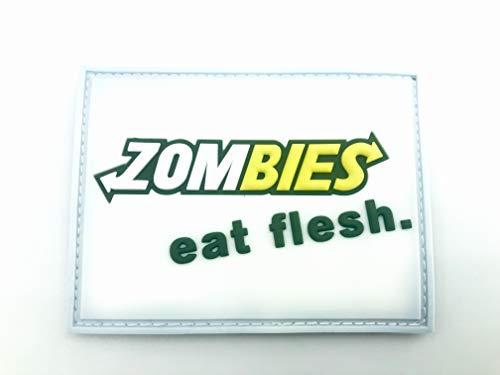 Patch Nation Zombies Eat Flesh PVC Klett Emblem Abzeichen (Zombie-klett-patch)