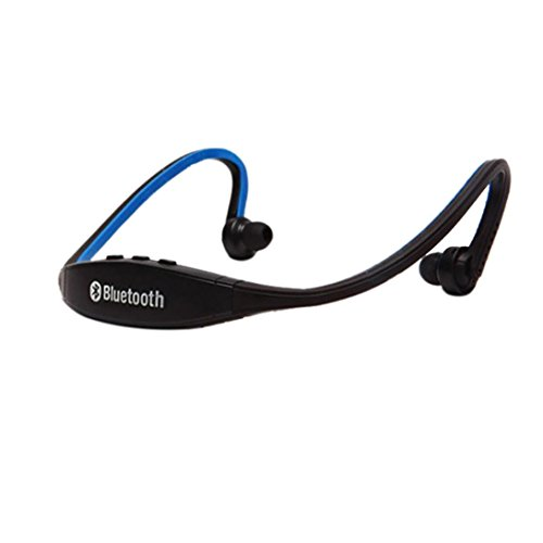 Saingace Drahtloser Bluetooth Musik-Sport-Stereokopfhörer-Kopfhörer für iPhone (Blau)