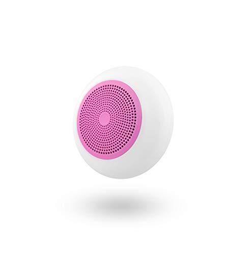T'nB Altavoz Rosa con Bluetooth y Lector de Tarjetas Micro SD Integrado - Compatible con Todos los Dispositivos Electrónicos. Retroiluminación LED.