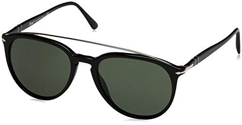 Persol Herren 0Po3159S 901431 55 Sonnenbrille, Schwarz (Black/Green)