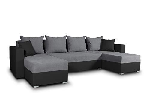 Wohnlandschaft Mit Schlaffunktion Beno U Form Couch Ecksofa Mit