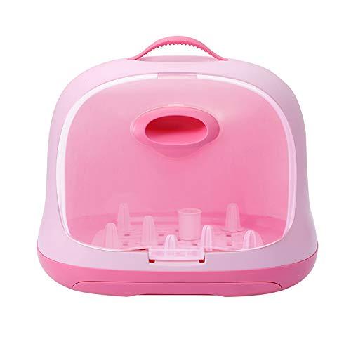 Abtropfständer Babyzubehör Spülmaschinenfestes Abtropfgestell Für Hygienisches Trocknen Von Babyflaschen Schnullern Und Geschirr Ultra-Versiegeln, Um Sekundäre Verschmutzung Zu Vermeiden,Pink