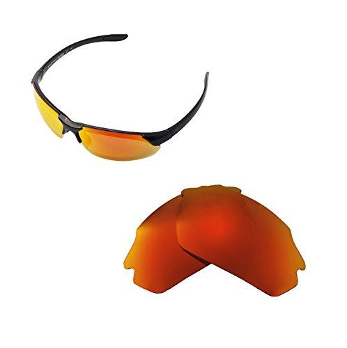 Walleva Ersatzgläser für Smith Parallel Max Sonnenbrille - Mehrfache Optionen (Feuer Red Mirror Coated - Polarisiert)