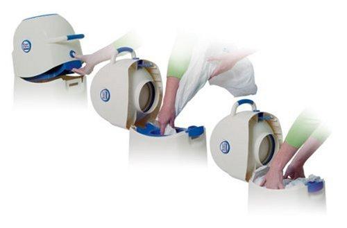 Geruchsdichter Windeleimer Diaper Champ medium blau – für normale Müllbeutel - 4