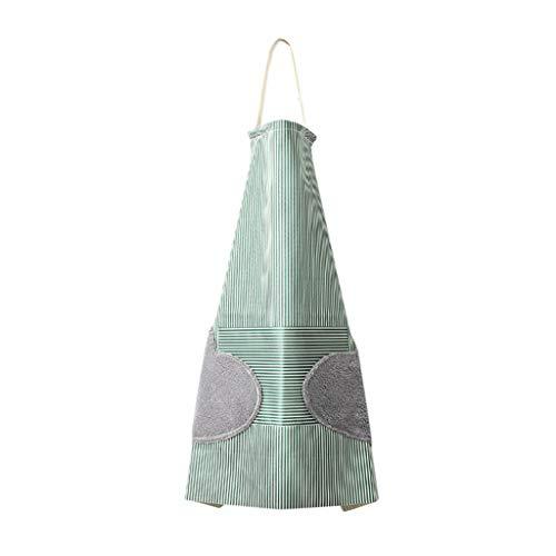Fett Streifen-baumwoll-shirt (Cwemimifa Kinder-Schürzen- und Kochmützen-Set für Jungen und Mädchen,verstellbare Baumwolle,Kinderschürzen, wasserdichte Streifen-Schutzblech-Küche, die justierbare Abwischen-Handtasche kocht)