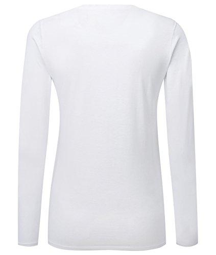 Verkleidet als Pinguin - Kostüm - Fasching - Damen Langarmshirt Weiß