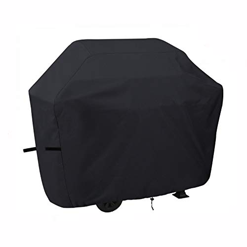 Fucnen copertura per griglia per barbecue copertura per patio copertura per barbecue nera copertura per griglia per bruciatore resistente al vento e alla polvere per swiss, outback, weber, 74 pollici