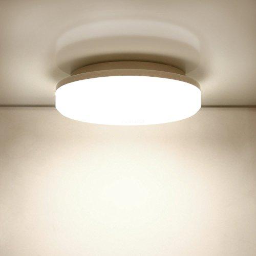 Plafoniera LED Lampada a Soffitto 4500K Daylight White 18W 1500 Lumens 25.4cm, Aglaia Plafoniera LED per camera da letto, cucina, corridoio, bagno