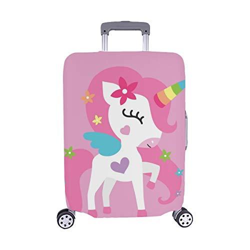 Pony rosa mädchen Baby Zimmer Muster Spandex Staubschutz Trolley Protector case reisegepäck Schutz Koffer Abdeckung 28,5 x 20,5 Zoll