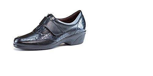 Scarpe pensati Donna Pitillos-Soletta estraibile-Pelle Nero Combinato vernice cocco, chiusura velcro-1816-99 nero Size: 38