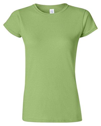 Gildan Damen Kurzarm T-Shirt Kiwi