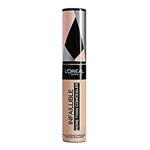 L'Oreal Paris Infalible More Than Concealer, Corrector Cobertura Completa, Tono 324 Oatmeal/Avoine – 11 ml