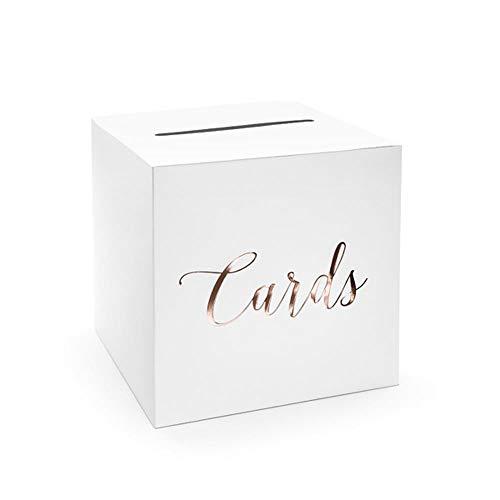 Hochzeitspost-Box, Kartenhalter Box - Karten, Roségold