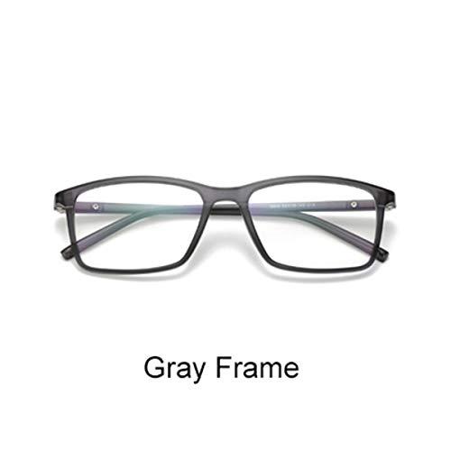 FGRYGF-eyewear Sport-Sonnenbrillen, Vintage Sonnenbrillen, Multiclip Glasses Frame Clip On Magnetic Sunglasses Men Women Polarized Sunglases Square Sun Glasses Prescription A8806 Gray Frame