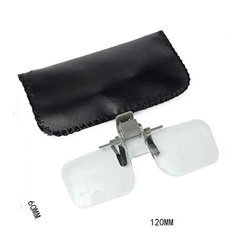 gfjfghfjfh Acryl Klappbrille Clip auf Lupe Flip Lupe Glas Stil Freisprecheinrichtung präzise Kopf Lupe Gläser Lupen -