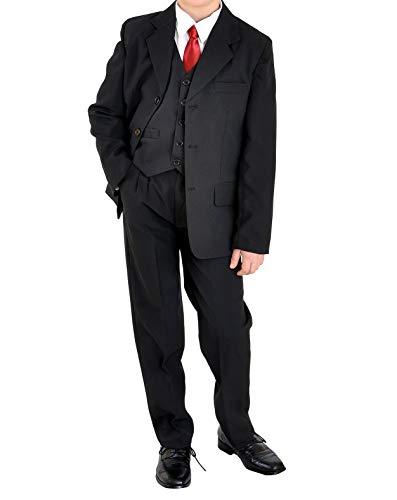 familientrends 5tlg Jungenanzug Jugendanzug Konfirmationsanzug Firmung Gr.164-182 Uni schwarz, Grösse Bekleidung:176/182;Farbe:Schwarz