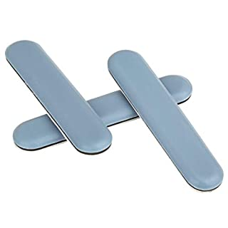 16 pieces, PTFE glides, 75x15 mm, angular, self-adhesive furniture gliders in premium quality, sofa / chair glides
