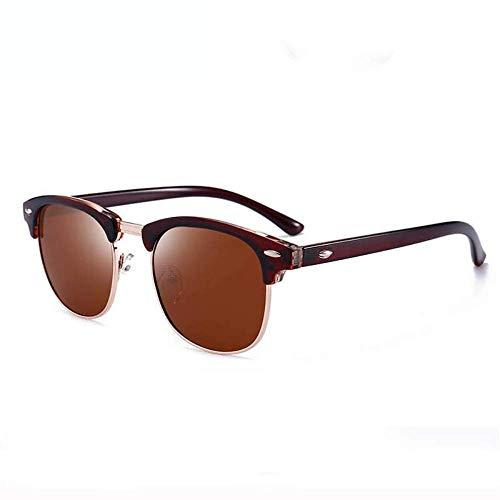 BAIF Sonnenbrille Polarisierte Sonnenbrille Herren Damen Halbmetallrahmen Spiegel Sonnenbrille Herren Lentes De Sol Hombre