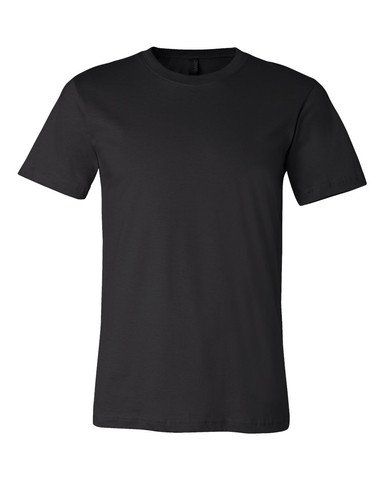 Bella+Canvas: Unisex Jersey Crewneck T-shirt 3001, Größe:L;Farbe:Black (Bella T-shirts)
