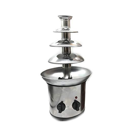 DIOE Edelstahl-Schokoladen-Brunnen, 4 Schicht Schokoladen-Wasserfall-Maschine, selbsterhitzend, abnehmbar, DIY-Partei-Haus, Werbung -