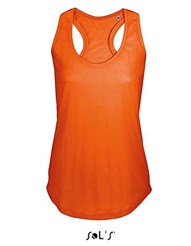 2Store24 Women T-Back Tank Top Moka in Burnt Orange Größe: M - Burnt Orange Damen Tank Top
